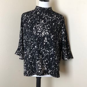 14th & Union Anthropologie Black And White Blouse